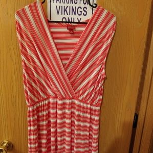NWOT Merona Coral with white dress XL